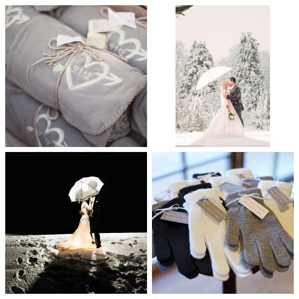 Inspiration de cadeaux pour les invités de votre mariage en hiver aux Portes des Iris