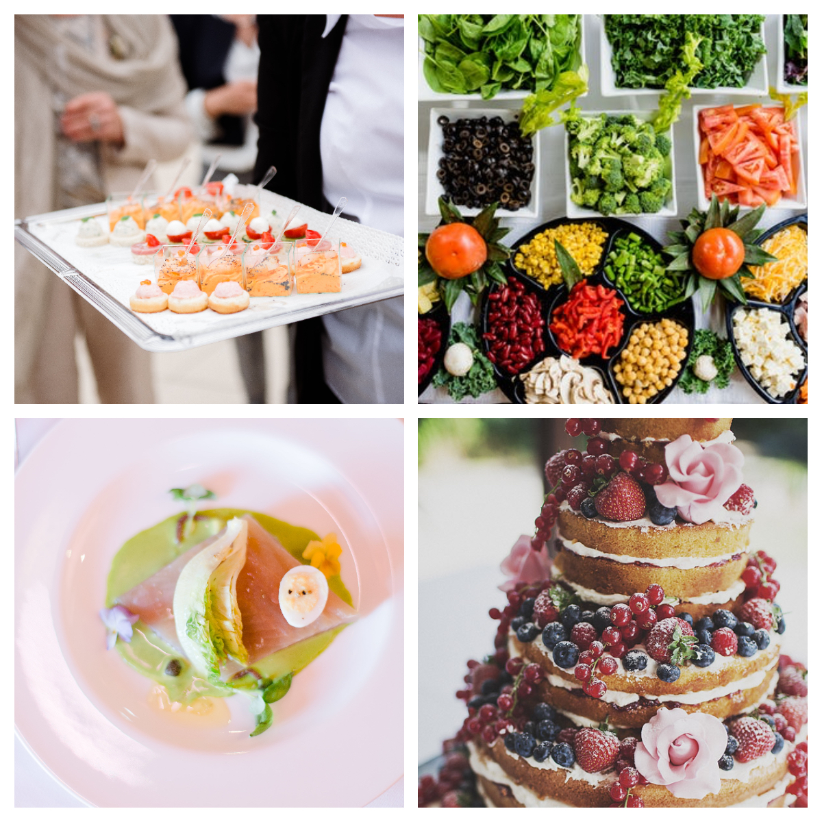 Food ideas for a spring wedding at Portes des Iris
